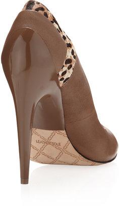 L.A.M.B. Dora Leopard-Print Heel Pump, Taupe