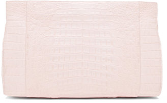 Nancy Gonzalez Crocodile Clutch in Pink