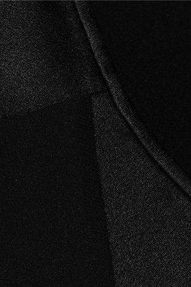 Alexander Wang Paneled silk-satin dress