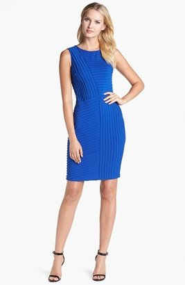 Adrianna Papell Banded Jersey Sheath Dress
