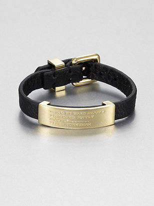 Marc by Marc Jacobs Standard Supply Leather ID Bracelet/Gold