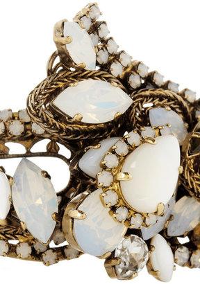Erickson Beamon Whiter Shade Of Pale Swarovski crystal gold-plated cuff