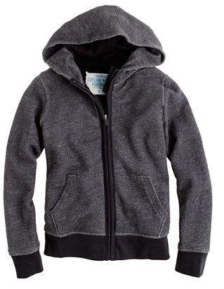 J.Crew Boys' sherpa zip hoodie