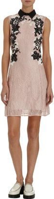Erdem Sequin and Lace Sleeveless Cocktail Mini Dress