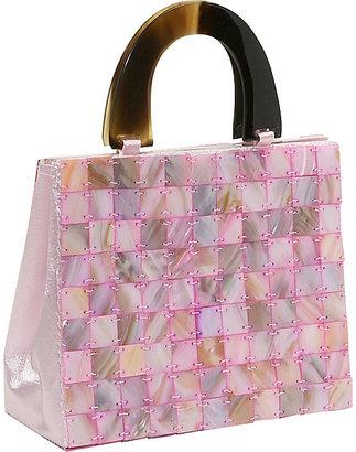 Global Elements Tiled Mother of Pearl Handbag