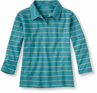 L.L. Bean (エルエルビーン) - サタデーTシャツ、7分丈袖 ポロシャツ ストライプ