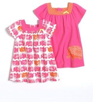 Offspring Baby Girls 12-24 Months Set Of Two Dresses