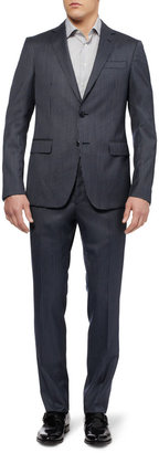 Etro Slim-Fit Check Wool and Silk-Blend Suit