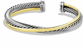 David Yurman Crossover Cuff with Gold $1,100 thestylecure.com