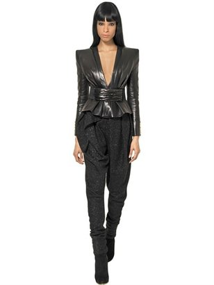 Balmain Nappa Leather Kimono Jacket