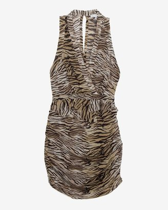 IRO Tiger Striped Print Ruched Dress