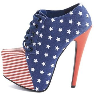 Charlotte Russe Stars & Stripes Canvas Bootie