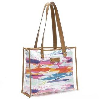 Rosetti watercolors canvas & clear shopper