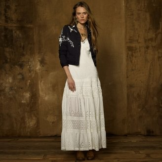Denim & Supply Ralph Lauren Eyelet-Embroidered Maxi Dress