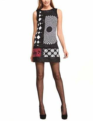 Desigual Women's Bruselas A-Line Sleeveless Dress Dress,(Manufacturer Size: 46)