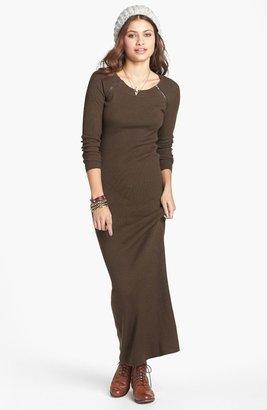 Rubbish Zip Detail Ribbed Maxi Dress (Juniors)