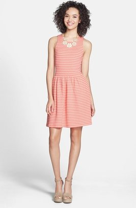 Frenchi Knit Racerback Skater Dress (Juniors)