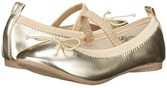 Kenneth Cole Reaction Copy Tap 2 (Toddler/Little Kid) (Gold) Girls Shoes