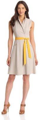Calvin Klein Women's Shirt Dress With Zipper Detail