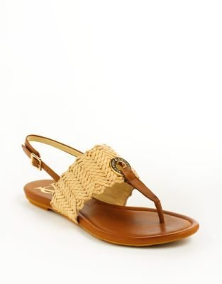Vince Camuto SIGNATURE Finn Leather Slingback Thong Sandals