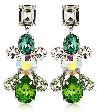 Juicy Couture Multicolor Gemstone Linear Earrings