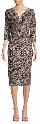 Max Mara Saggio Cheetah-Print Dress