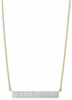 Wrapped Diamond Bar Pendant Necklace in 10k Gold (1/4 ct. t.w.), Created for Macy's