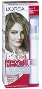 L'Oreal Root Rescue 10 Minute Root Coloring Kit, Dark Blonde 7