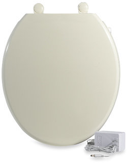 Bed Bath & Beyond UltraTouch™ Heated Round Toilet Seat - Biscuit