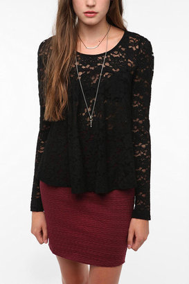 Urban Outfitters Pins and Needles Lace Swing Top
