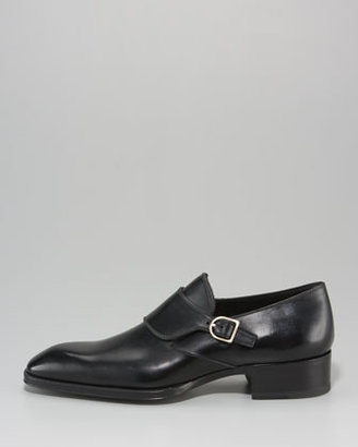 Tom Ford Gianni Monk-Strap Loafer, Brown