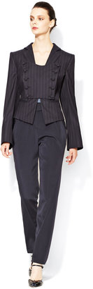 Giorgio Armani High-Rise Pleated Front Pant
