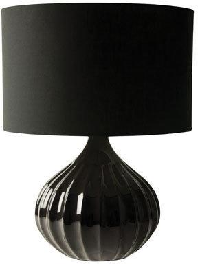 Salt&Pepper Mood Ceramic Base Black Lamp - 49cm