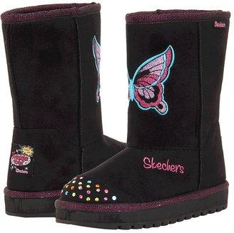 Skechers Keepsakes 10317L (Little Kid/Big Kid) (Black/Hot Pink) - Footwear