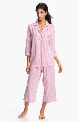Lauren Ralph Lauren Sleepwear Cropped Stripe Pajamas