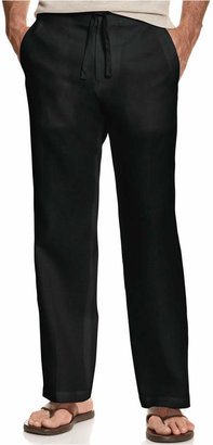 Tasso Elba Men Drawstring Linen Pants