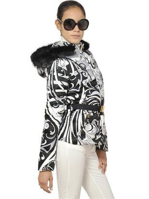 Emilio Pucci Beaver Fur And Silk Satin Down Jacket