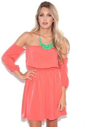 West Coast Wardrobe Coral Love Child Dress in Coral