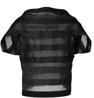 Jil Sander Cotton Sheer Stripe Top