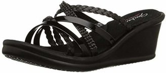 Skechers Cali Women's Rumblers-Social Butterfly Wedge Sandal $28.73 thestylecure.com