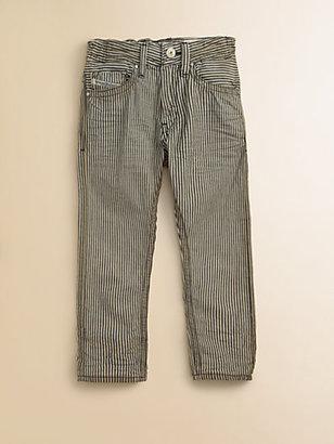 Diesel Little Boy's Railroad Striped Straight-Leg Jeans