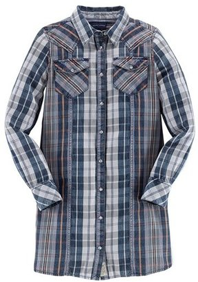 Ralph Lauren Plaid Shirt Dress (Big Girls)