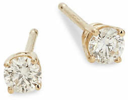 Effy 14K Yellow Gold & 0.25 TCW Diamond Stud Earrings