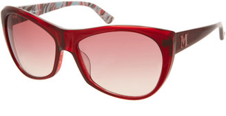Missoni Acetate Frame Sunglasses With Stripe Inside Arm