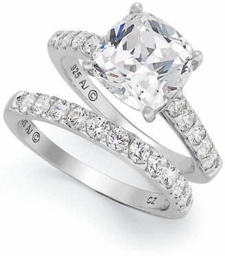 Arabella Sterling Silver Ring Set, Swarovski Zirconia Bridal Ring and Band Set (8 ct. t.w.) $375 thestylecure.com
