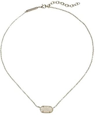 Kendra Scott Elisa Pendant Necklace (Gold/Iridescent Drusy) Necklace