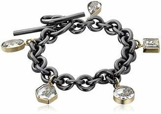 "Moritz Glik Kaleidoscope"" 18K Gold Black and Yellow Diamond Charm Bracelet"