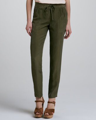 Theory Dunes Silk Tapered Pants
