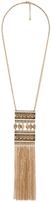 Forever 21 Fringed Coin Necklace