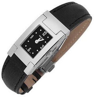 Versace On Fifth -Ladies' Black Leather Watch